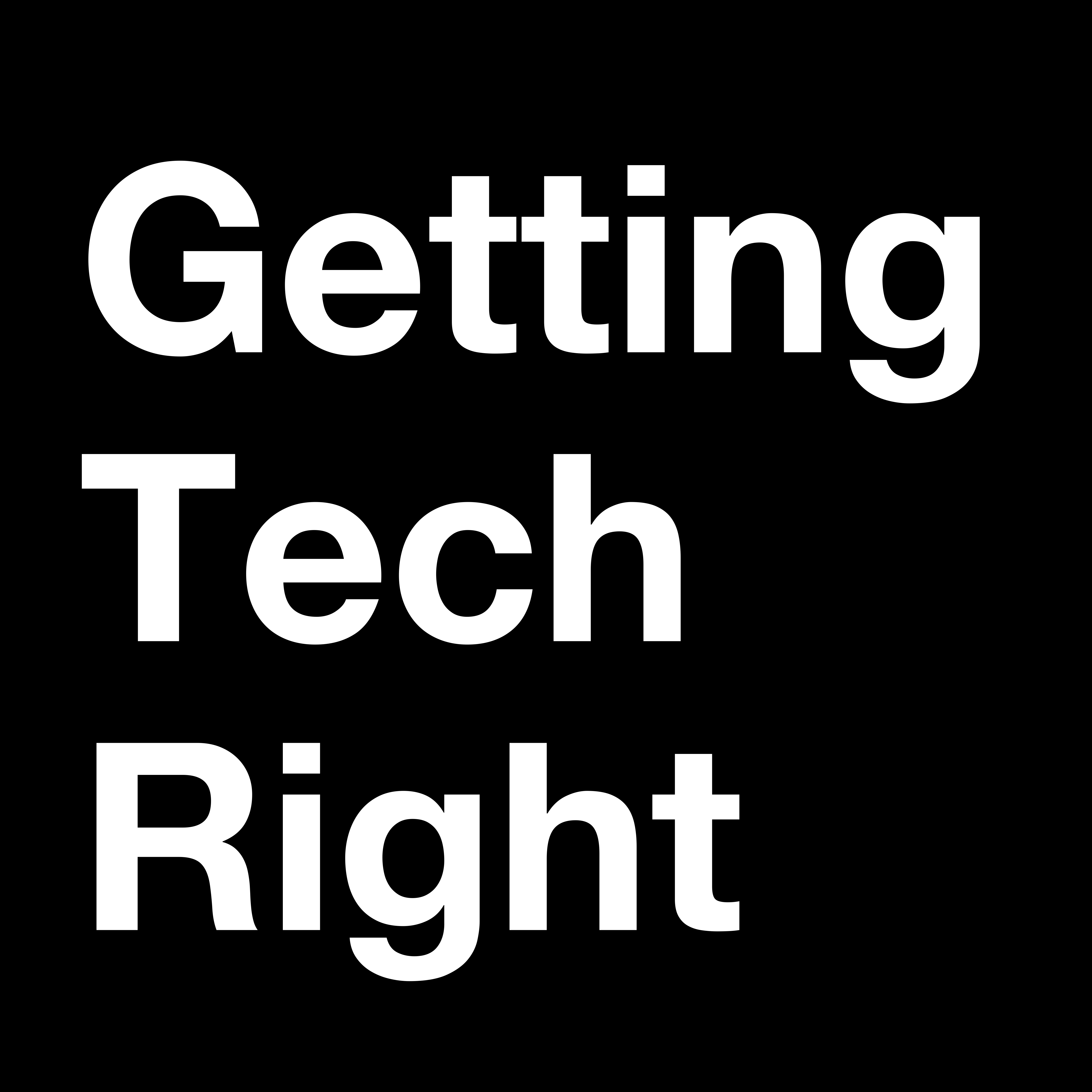 Logo for Getting Tech Right